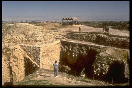 http://howardbloom.net/jericho_walls_wide_view.jpg