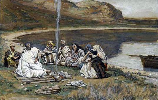 المسيح يظهر لسبعة تلاميذ