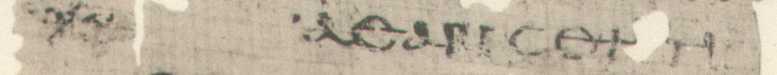 Papyrus Egerton 2: Line 41