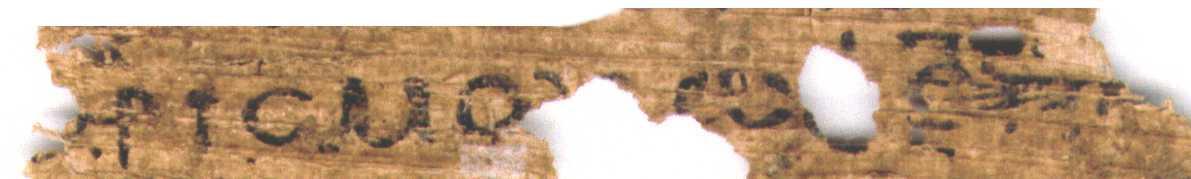 Papyrus Egerton 2: Line 46