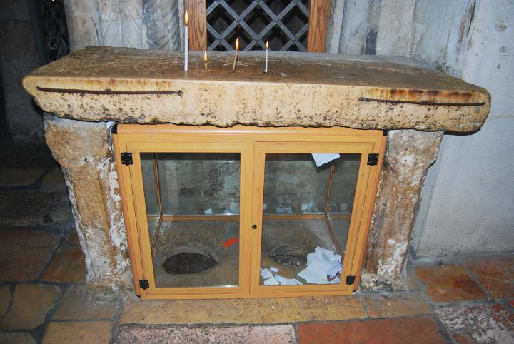Holes under the altar