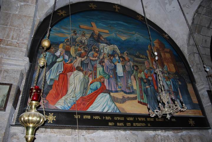 St Helen Chapel - discovery of Jesus cross and sepulchre