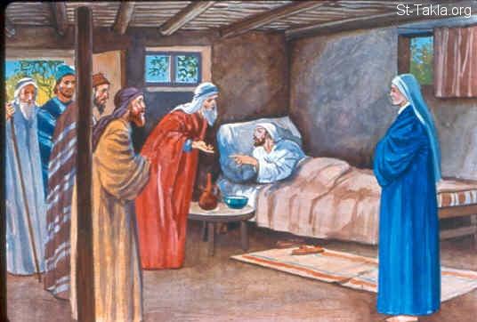 Image: Ezekiel lies on His left side <br> صورة حزقيال يتكئ على جنبه