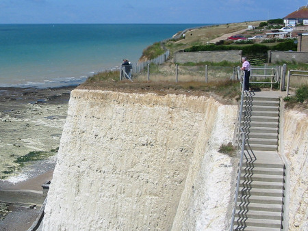 Peacehaven steps down to the beach at Friars Bay